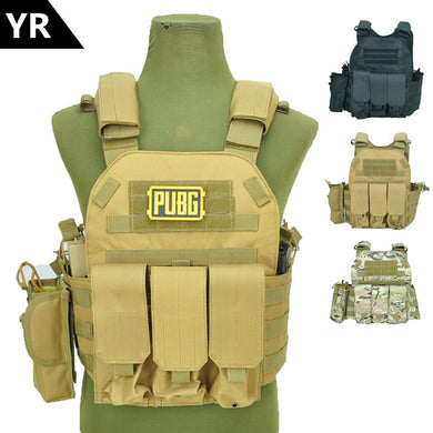 Molle Tactical Vest Body armor Hunting plate Carrier Airsoft 094K M4 Pouch Combat Gear Multicam