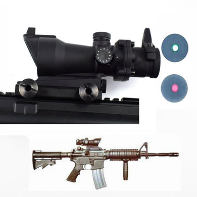 Optics Sight ACOG 1X32 Red Green Dot Rifle Scope Tactical Riflescope For Hunting Shooting 20mm Weaver Rail Rifle Scope Air Gun