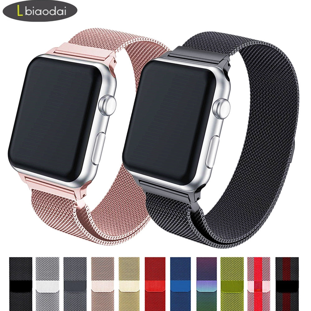 Mesh Style Stainless Steel Band For Apple Watch - $ 19.95 USD - iRelax® Novelty Store