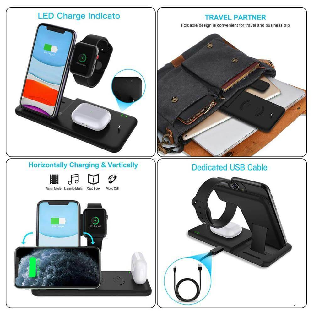 Fast Wireless Foldable Charger Stand For iPhone - $ 49.95 USD - iRelax® Novelty Store