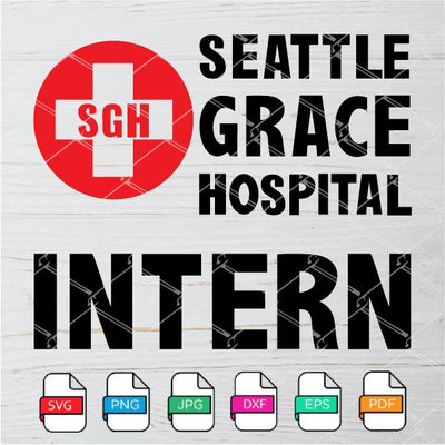 Grey's Anatomy Seattle Grace Hospital Intern SVG - Hospital Logo Svg Newmody