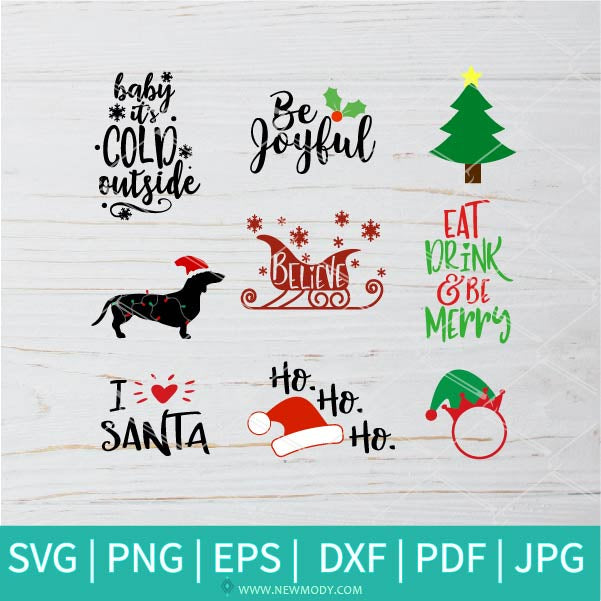 Christmas Bundle SVG - Christmas SVG - Snowman SVG - Winter SVG