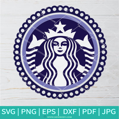 Circle Frame Strabucks SVG - Circle Monogram SVG - Frame SVG - Newmody