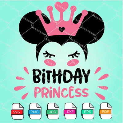 Birthday Princess SVG - Minnie Mouse SVG Newmody