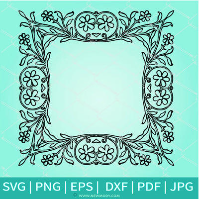 Square Picture Frame SVG - Photo Border SVG - Decorative Border