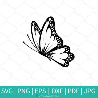 Bundle Outline Butterfly  SVG - Butterflies SVG - Good Vibes Svg - Girls Svg - Positive SVG - Newmody