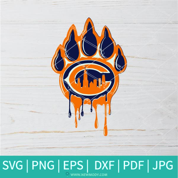 Chicago Paw SVG - Chicago Bears SVG - Chicago Bears Logo SVG