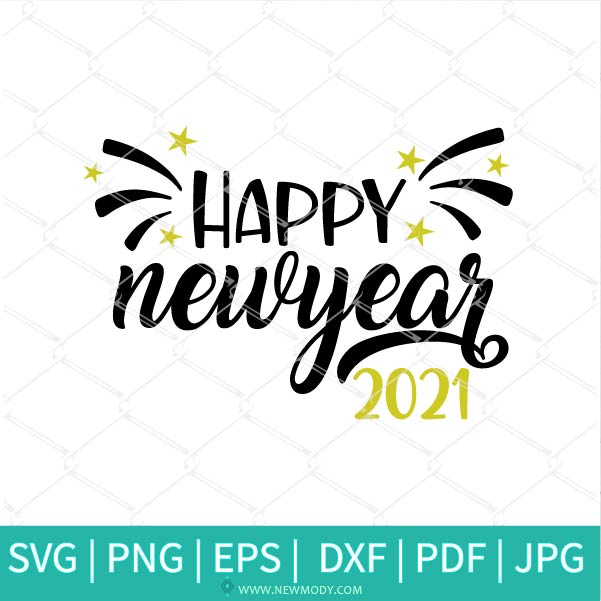 Happy New Year 2021 SVG -2021 Svg - Cheers 2021 SVG-  New Year SVG- New Year 2021 SVG - Celebration SVG