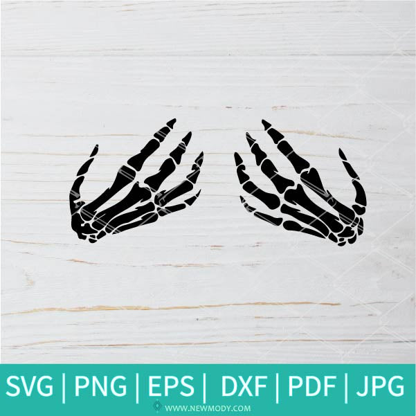 Skeleton Hands SVG - Boob Hands SVG - Halloween SVG