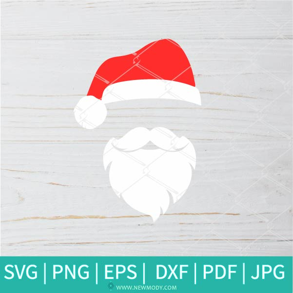 Santa SVG - Halloween SVG - Christmas SVG - Santa Face SVG