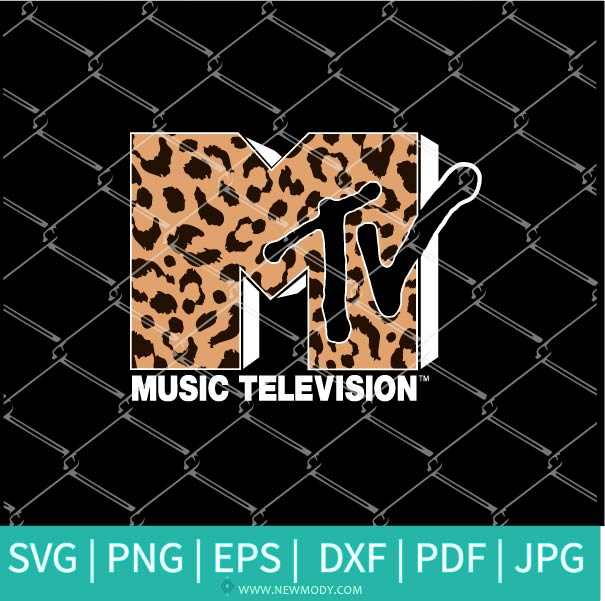 MTV Leopard SVG - Music Television Logo Svg - Music TV SVG cut file