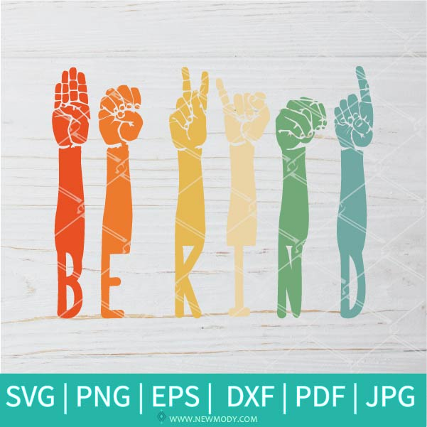 Be Kind SVG - Hands Raised Togther With Different Skin Colors SVG - Stop Colorism SVG