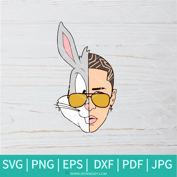 Bad Bunny face rapper scrapbooking SVG - Bad Bunny  SVG - El Conejo Malo SVG