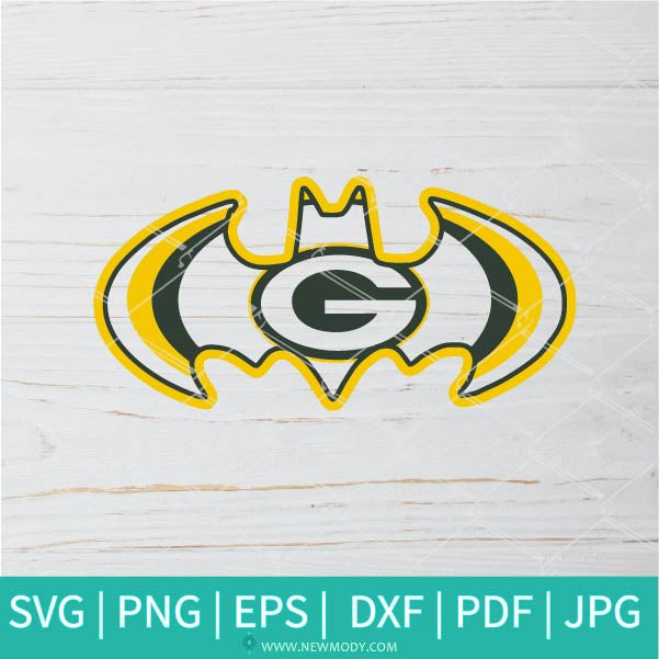 Packers Batman  SVG - Green Bay Packers SVG - Football Helmet SVG