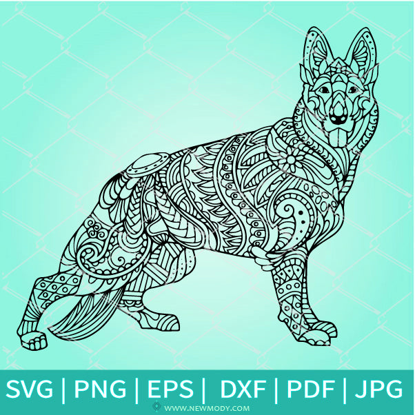 Mandala Dog SVG - Dog Mandala SVG - Coloring printable