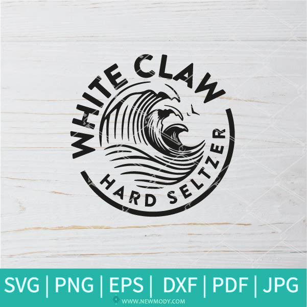 White Claw Hard SVG -  White Claw SVG - Beer SVG