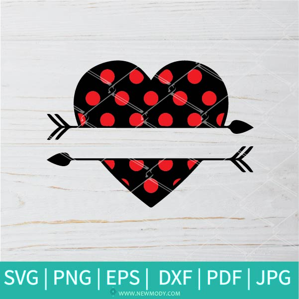 Heart Arrow SVG -Heart SVG - Valentine SVG -  Valentine's Day  SVG - Valentines Hearts SVG