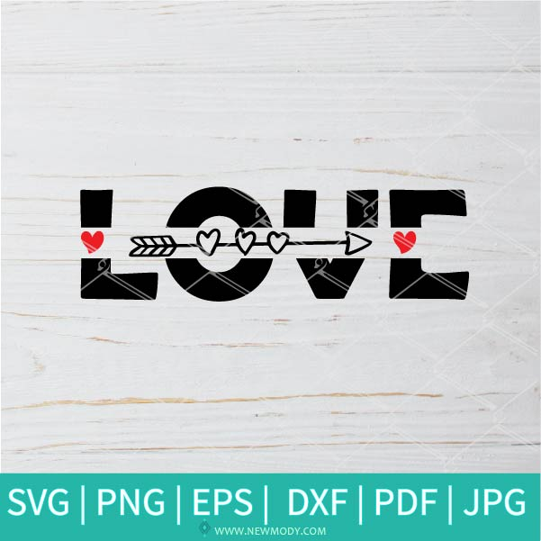 Heart Arrow SVG - Valentine SVG -  Valentine's Day  SVG - Valentines Hearts SVG - Love SVG