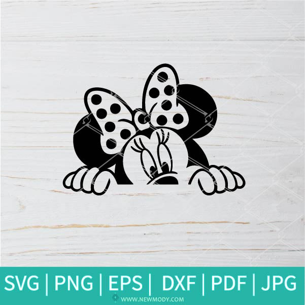 Minnie Peeking SVG - Minnie Mouse SVG - Disney SVG