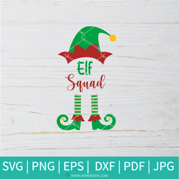 Elf Squad SVG - Elf Family SVG -  Christmas Elf SVG - Elf SVG