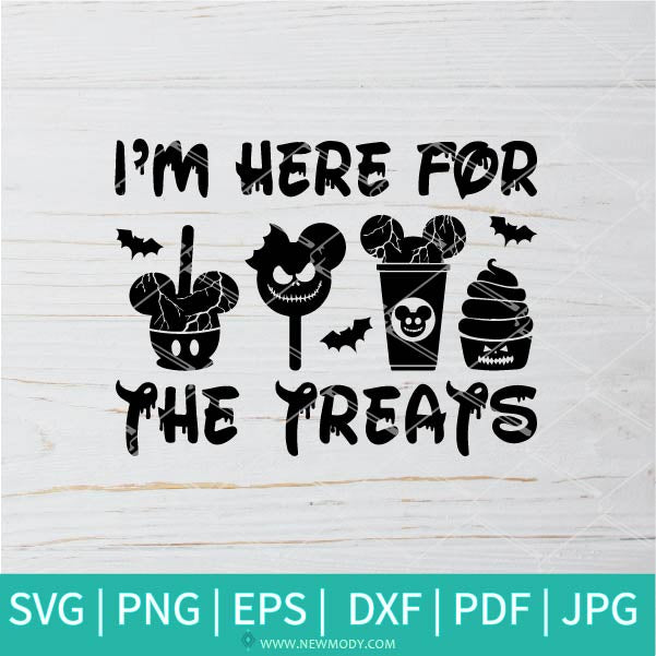 I'm Here For The Treats SVG - Minnie bar SVG - Disney Halloween SVG - Halloween SVG