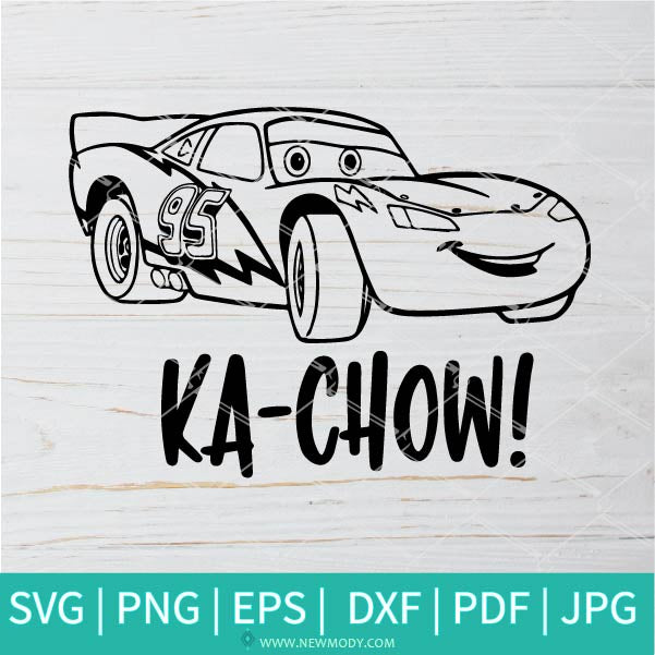 Ka Chow SVG - Disney cars SVG - Lightning McQueen SVG