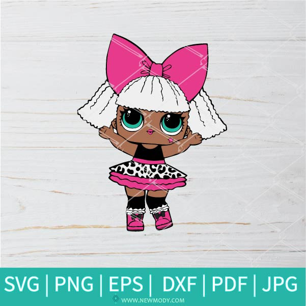 Diva Glitter SVG - Lol Surprise Dolls SVG - Lol Doll SVG