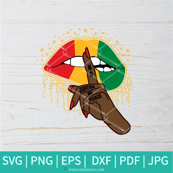 No Justice No Peace SVG - No Justice SVG - Freedom SVG - Woman Hand Silence SVG