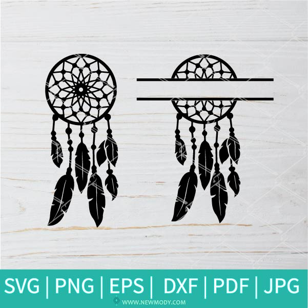 Dream Catcher SVG - Arrow dream catcher svg cut file - Mandala SVG - Dream Catcher Split SVG