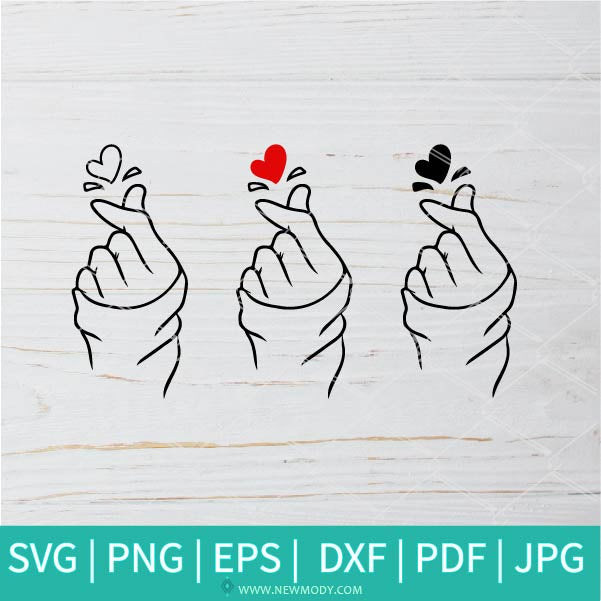 Korean Heart SVG -  K drama SVG - K pop SVG - Valentine's Day  SVG - Valentines Hearts SVG