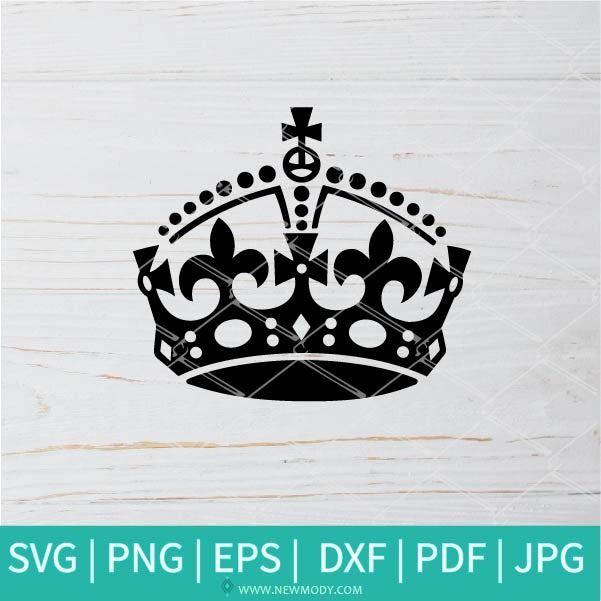 Keep Calm Crown Logo SVG - Keep Calm SVG -  Keep Calm Crown SVG - Crown SVG