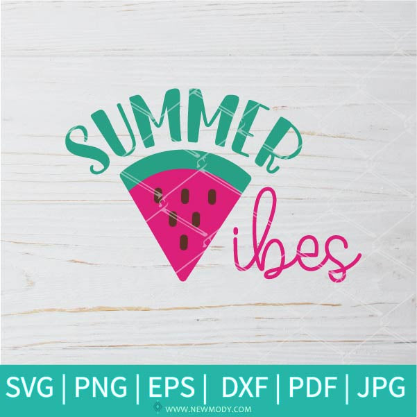 Summer Vibes SVG - Summer Svg - Good Vibes SVG