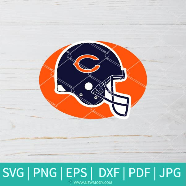 Chicago Helmet SVG - Chicago Bears SVG - Chicago Bears Logo SVG - American football SVG