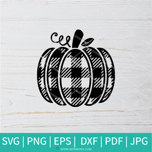 Buffalo Plaid Pumpkin SVG - Fall Quote Svg - Pumpkin SVG