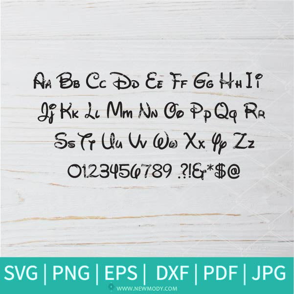 Disney Font SVG - Disney Svg - Disney Alphabet SVG