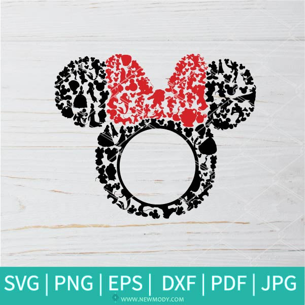 Minnie Monogram Frame  SVG - Minnie Mouse SVG