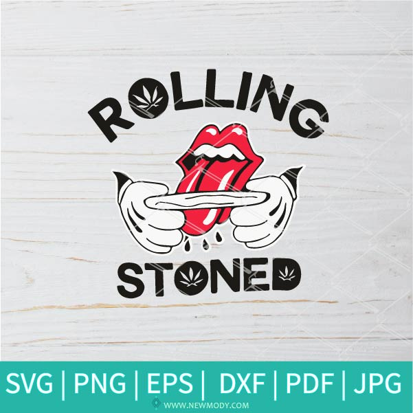 Rolling stoned  SVG - St Patrick Lips with Tongue SVG - Rasta SVG - Marijuana SVG