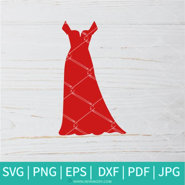 Red Dress SVG - Pretty Woman svg - Beautiful SVG