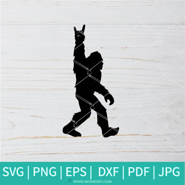 Bigfoot Rock SVG -  Sasquatch SVG - Bigfoot SVG