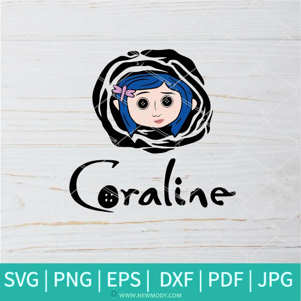 Coraline SVG - Button Eyes SVG - Horror  SVG -  Nightmare SVG