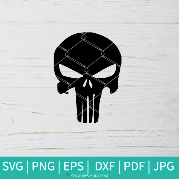 Punisher SVG -  Skull SVG - Skull Clipart