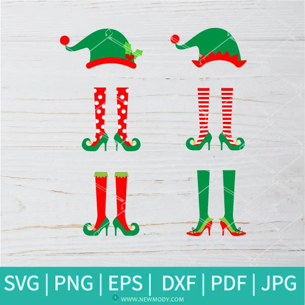 Christmas Elf Bundle SVG - Christmas Elf SVG - Elf SVG -  Elf Shoes SVG