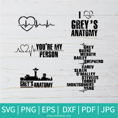 Grey's Anatomy SVG  - Grey's anatomy quotes svg -  Anatomy Of A Pew SVG - Pew Anatomy SVG - Newmody