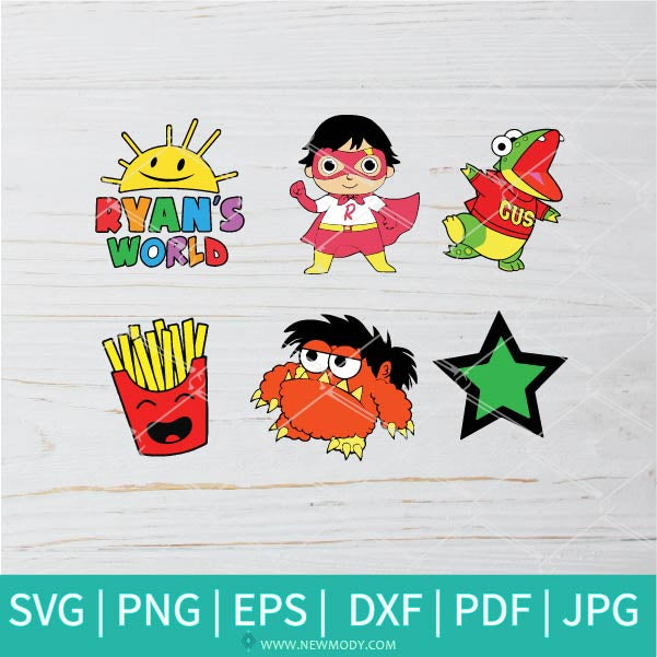Ryan's World Bundle SVG - Ryan SVG -  You Tube Kids SVG - Toy Review svg