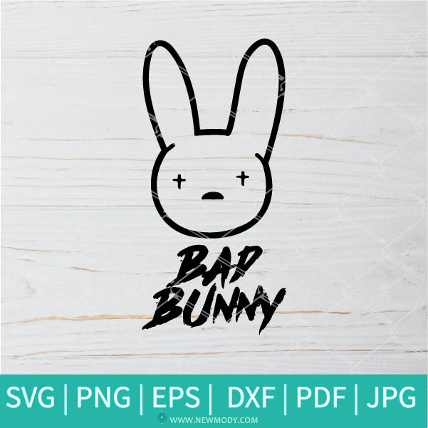 Bad Bunny Logo SVG - Bad Bunny Clipart
