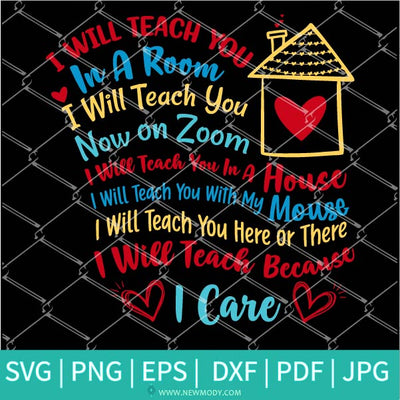 I Will Teach You In A Room I Will Teach You On Zoom SVG - Dr Seuss Svg