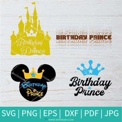 Birthday Prince SVG Bundle - Birthday Boy SVG