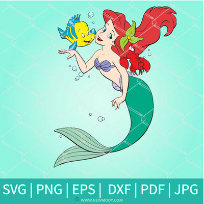 Little Mermaid SVG - Princess Ariel Clipart