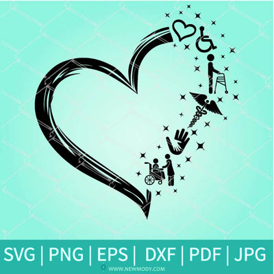 Disability Heart Svg - Disability Support SVG - Helping Hands Svg