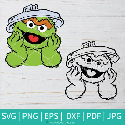 The Grouch Head SVG - Oscar The Grouch Face SVG - Newmody